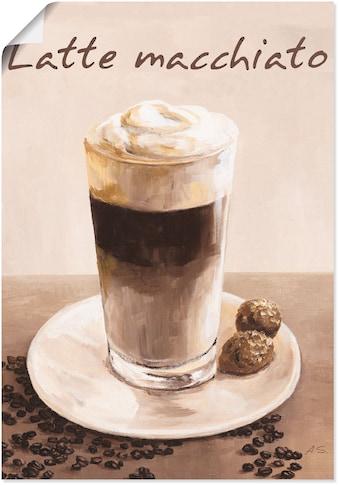 Artland Wandbild »Latte Macchiato - Kaffee«, Kaffee Bilder, (1 St.), in vielen Größen... kaufen