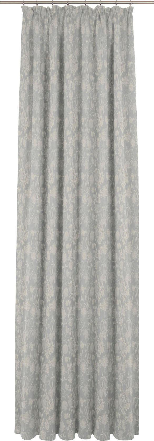 Vorhang, »Flower Cuveé Light«, Adam, Kräuselband 1 Stück   Heimtextilien > Gardinen und Vorhänge > Vorhänge   Grau   Baumwolle   Adam