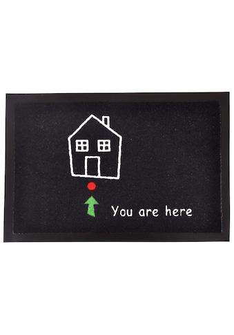 HANSE Home Fußmatte »Standort«, rechteckig, 7 mm Höhe, Schmutzfangmatte, mit Spruch kaufen
