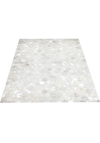 Home affaire Lederteppich »Zeno«, rechteckig, 8 mm Höhe, Wohnzimmer kaufen