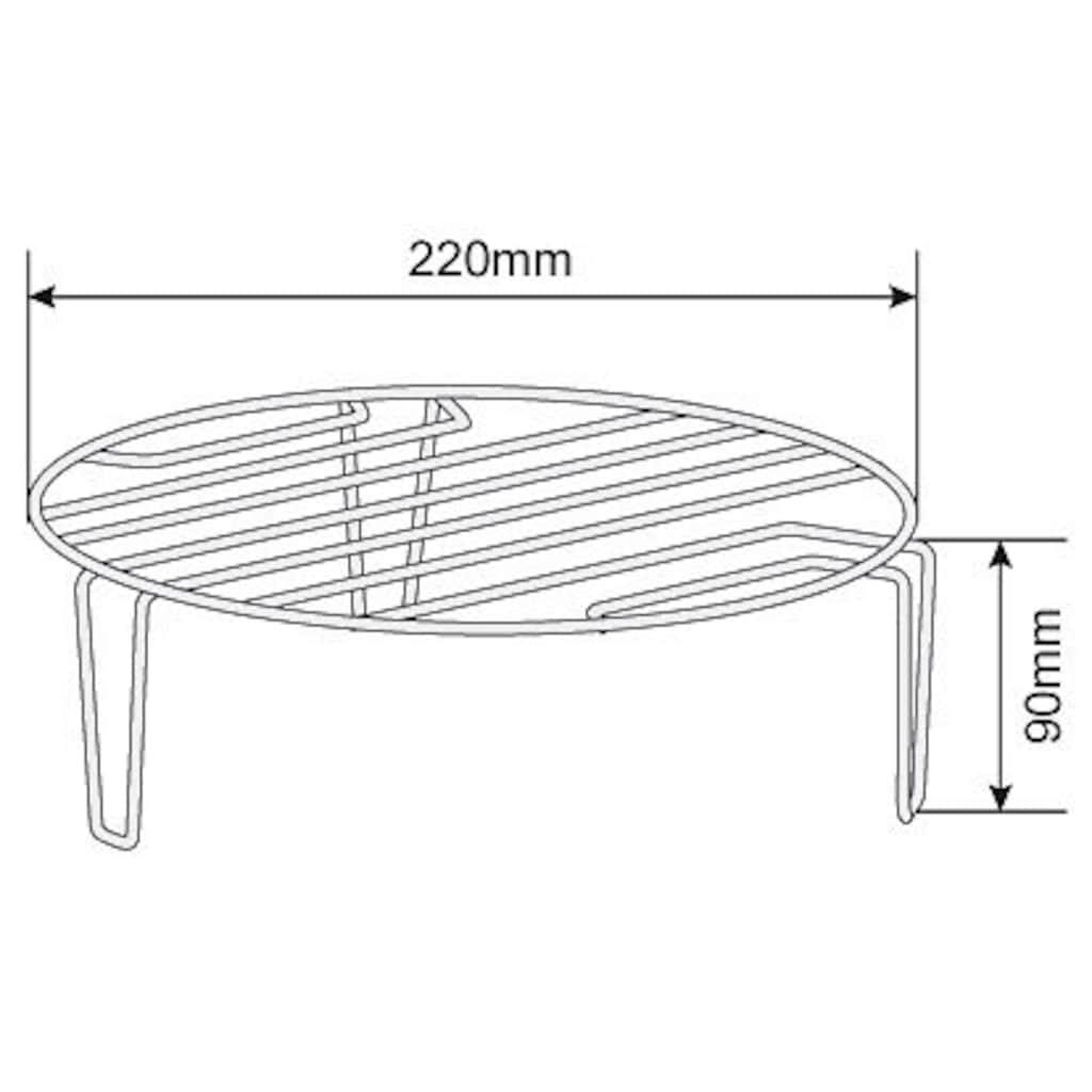 Hanseatic Mikrowelle »619166«, Grill, 700 W, silberfarben