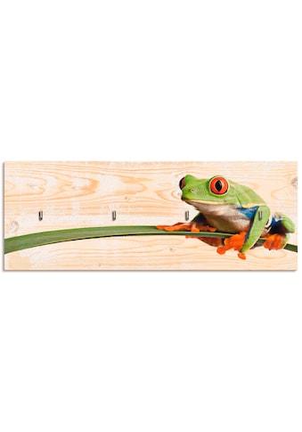 Artland Schlüsselbrett »Frosch auf einem Blatt«, aus Holz mit 4 Schlüsselhaken –... kaufen