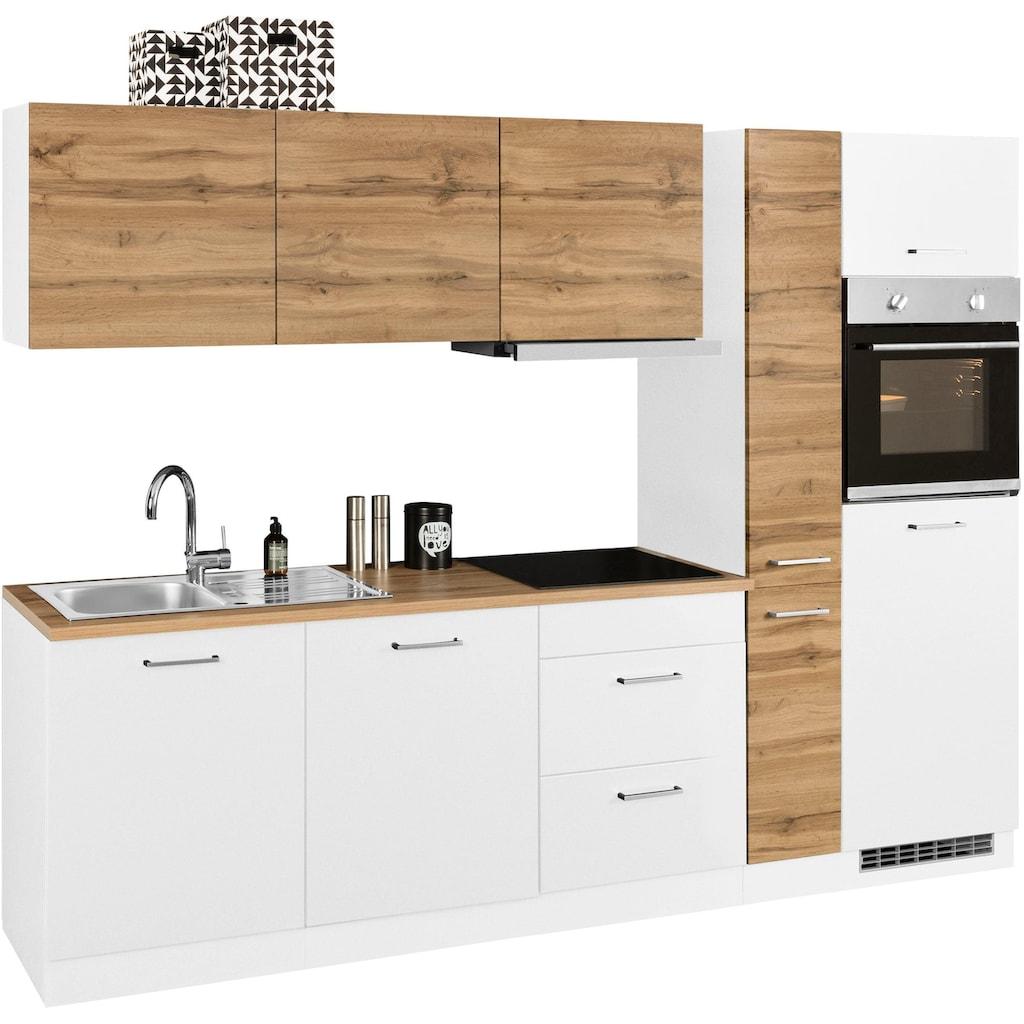 HELD MÖBEL Küchenzeile »Kehl«, mit E-Geräten, Breite 270 cm, wahlweise mit Induktionskochfeld