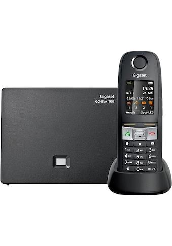 Gigaset Schnurloses DECT-Telefon »E630 A«, (Mobilteile: 1 ), Anrufbeantworter, Weckfunktion, Wahlwiederholung kaufen