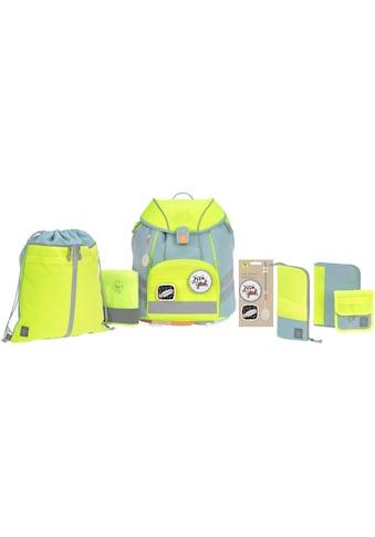 LÄSSIG Schulranzen »Unique, blue/neon-yellow«, Reflektoren, inkl. Patches;... kaufen