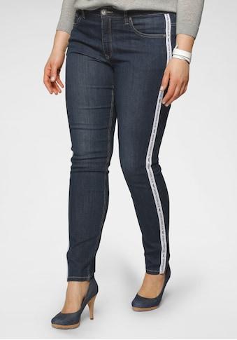 Arizona Slim-fit-Jeans, High Waist mit coolem Seitenstreifen - NEUE KOLLEKTION kaufen