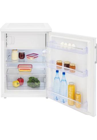exquisit Table Top Kühlschrank »KS 18-17 A++ Inoxlook«, KS 18-17 A++, 85 cm hoch, 60 cm breit kaufen