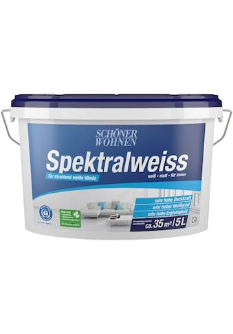 SCHÖNER WOHNEN-Kollektion Wand- und Deckenfarbe »Spektralweiss«, weiß, matt, für... kaufen