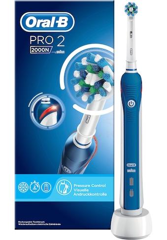 Oral B Elektrische Zahnbürste »PRO 2 2000N«, 1 St. Aufsteckbürsten kaufen