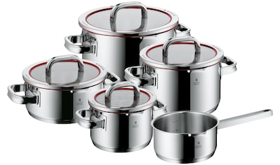 WMF Topf-Set »Function 4«, Cromargan® Edelstahl Rostfrei 18/10, (Set, 9 tlg.), Deckel mit 4 Funktionen zum wasserarmen Garen und kontrollierten Ausgießen, Induktion kaufen