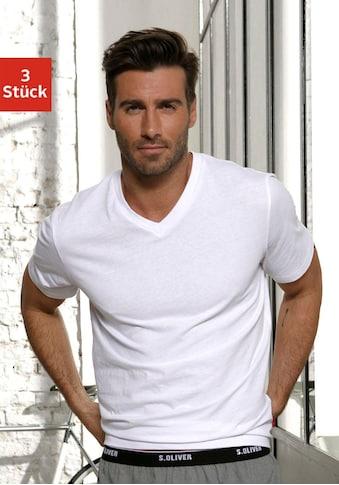 s.Oliver Bodywear V - Shirt (Packung, 3er - Pack) kaufen