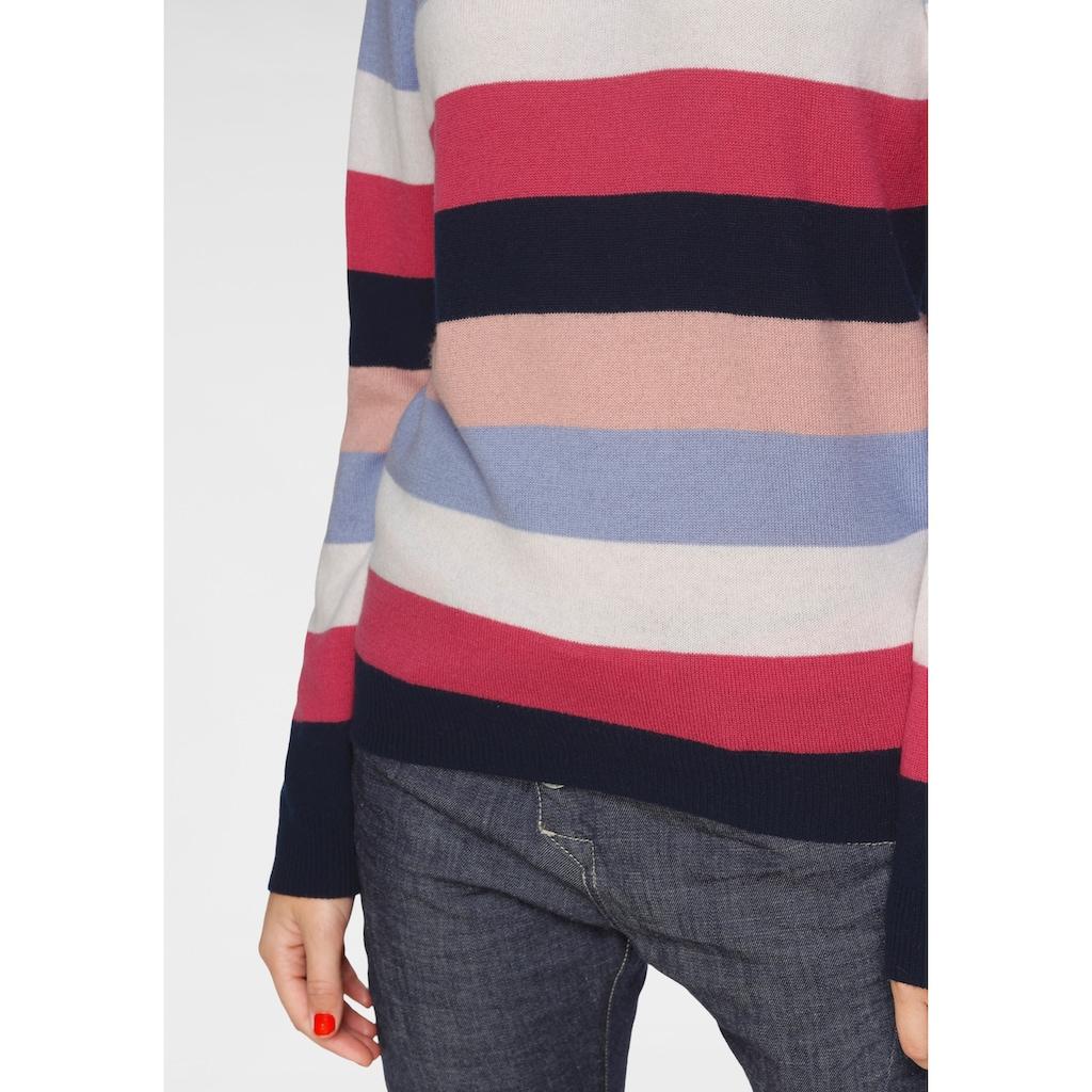 AJC Streifenpullover, in Colourblocking aus reiner Merinowolle