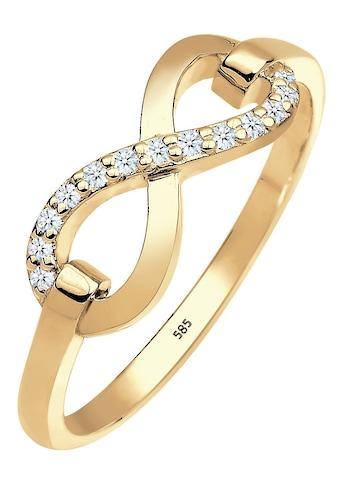 Elli Premium Diamantring »Infinity - Unendlichkeitsschleife, 0603822714«, mit funkelnden Brillanten kaufen