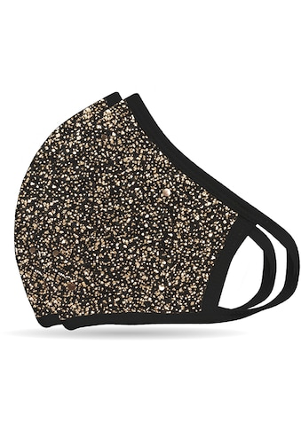 """NEQI Mund - Nasen - Masken """"Bronze Glitzer"""" (Packung, 2 - teilig) kaufen"""