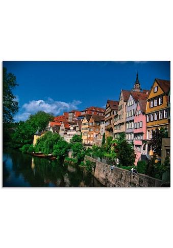 Artland Glasbild »Tübingen am Neckar«, Garten, (1 St.) kaufen