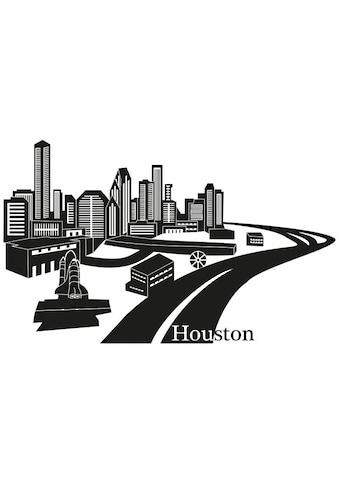 Wall-Art Wandtattoo »XXL Stadt Skyline Houston 100cm« kaufen