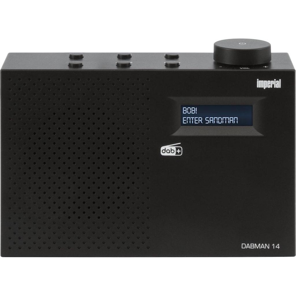 IMPERIAL Digitalradio (DAB+) »DABMAN 14«, (Digitalradio (DAB+), mit Weckfunktion und Sleeptimer