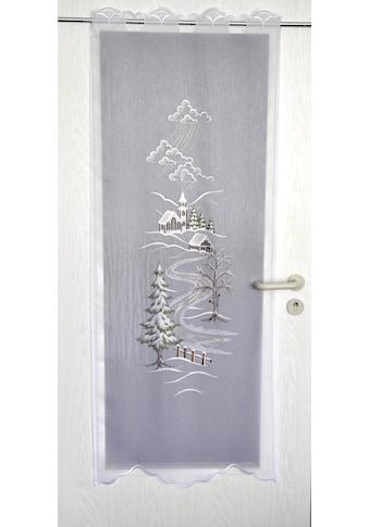 Stickereien Plauen Türvorhang »Türstores Landschaft«, HxB: 160x60, veredelt mit echter Plauener Spitze Stickerei kaufen
