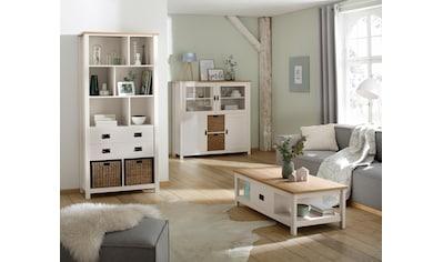 Home affaire Mehrzweckregal »Georgina«, mit 8 offenen Fächer, 2 Schubladen und 2 Körben, Höhe 194 cm kaufen