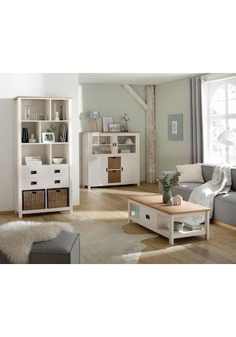 Home affaire Mehrzweckregal »Georgina«, mit 8 offenen Fächer, 2 Schubladen und 2... kaufen