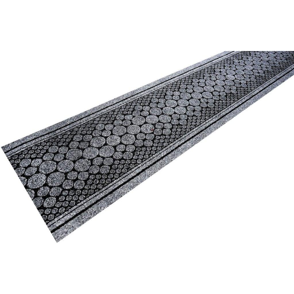 Living Line Läufer »Stone«, rechteckig, 7 mm Höhe, Schmutzfangläufer, Schmutzfangteppich, Schmutzmatte, Meterware, In- und Outdoor geeignet