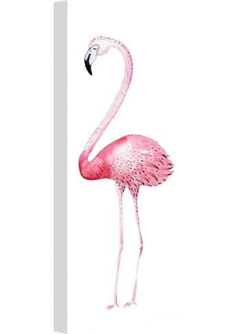 Wall-Art Leinwandbild »Kvilis - Pink Flamingo 01« kaufen