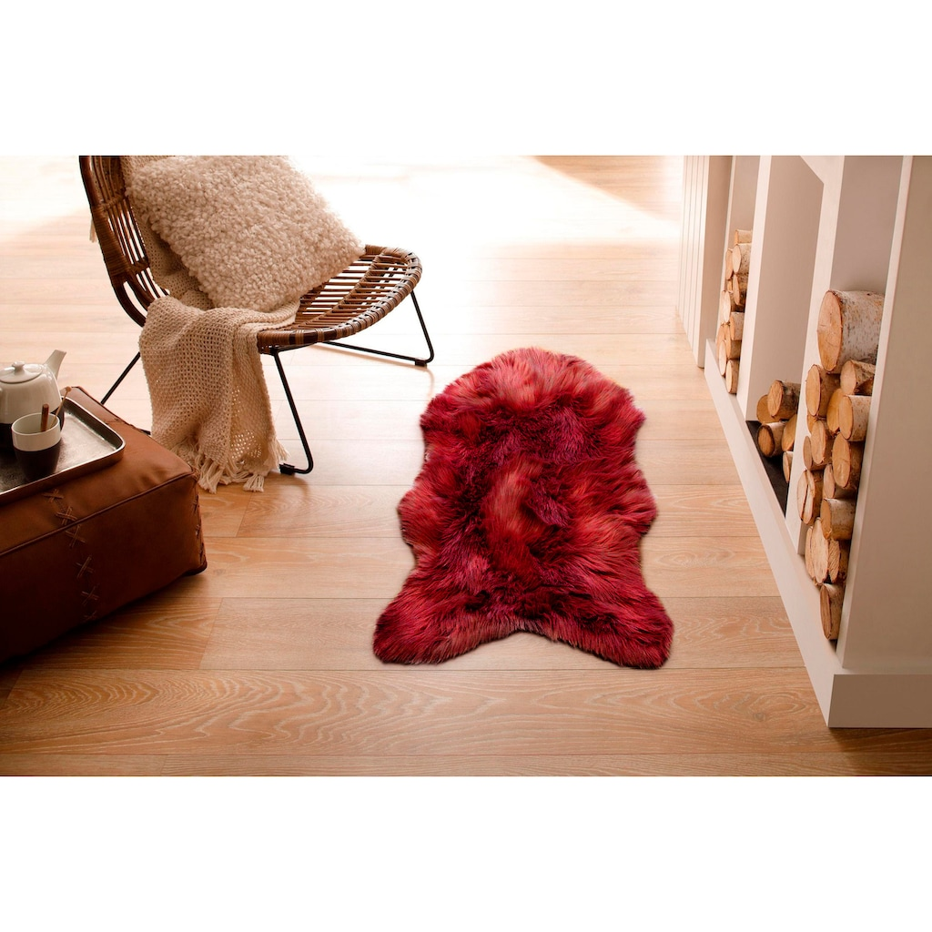 Home affaire Fellteppich »Valeria«, fellförmig, 60 mm Höhe, Kunstfell, sehr weicher Flor