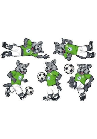 Wall-Art Wandtattoo »VfL Wolfsburg Wölfi Set« kaufen