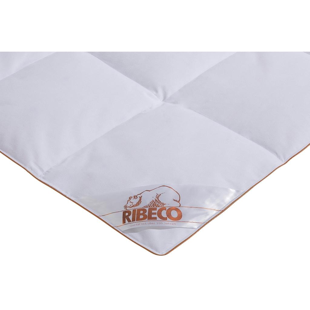 RIBECO Daunenbettdecke »Ella«, leicht, Füllung 90% Daunen & 10% Federn, Bezug Baumwolle, (1 St.), Daunendecke zum Top-Preis! Decke, Bettdecke