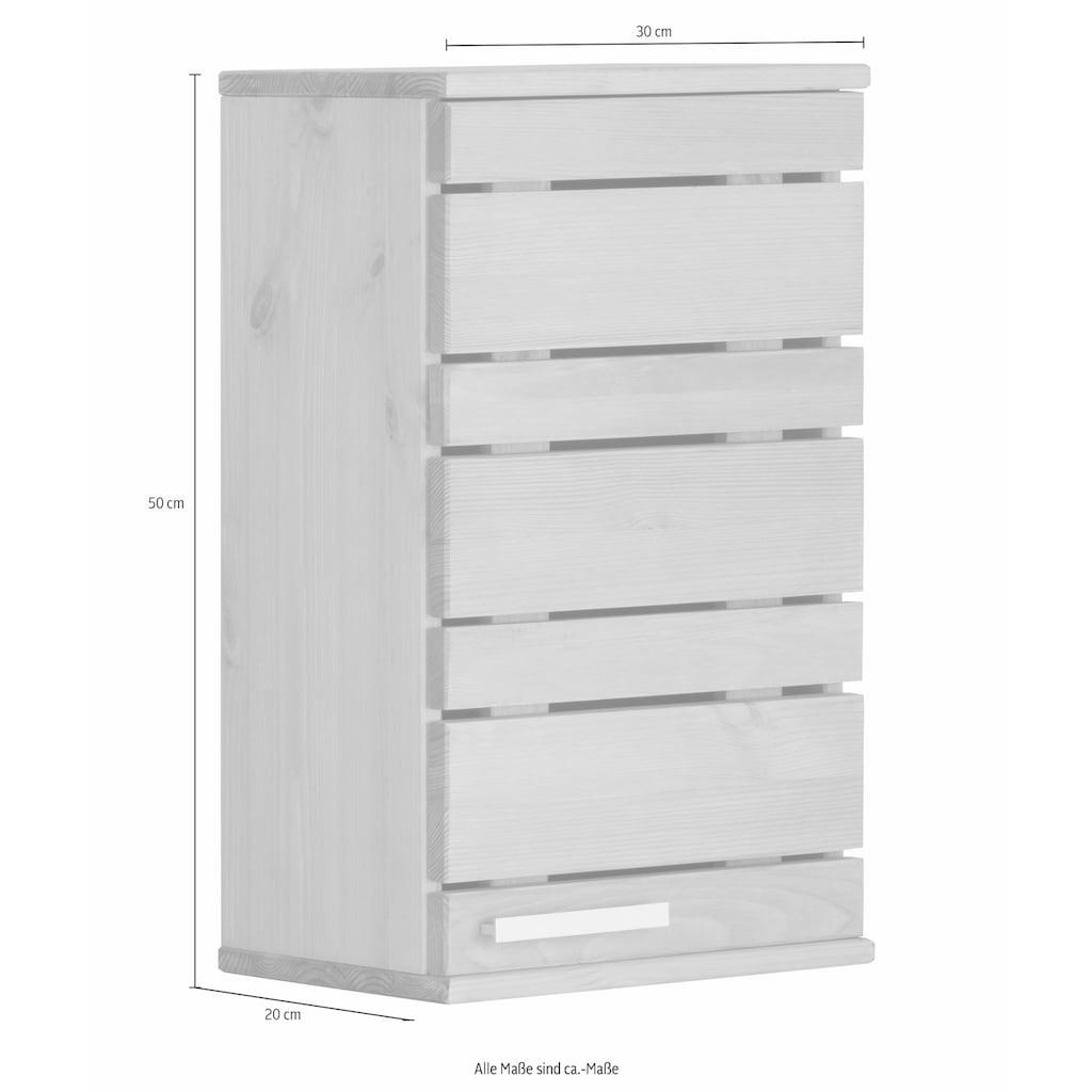 Home affaire Hängeschrank »Josie«, Breite 30 cm, aus Massivholz, verstellbarer Einlegeboden, Metallgriff