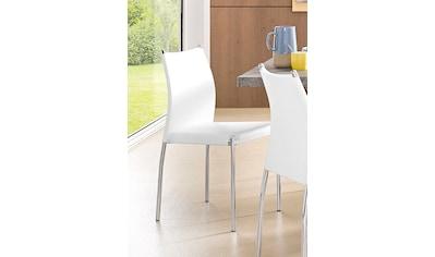 Esszimmerstuhl »Silje«, (2 oder 4 Stück), Bezug in Kunstleder, verchromtes Metallgestell kaufen