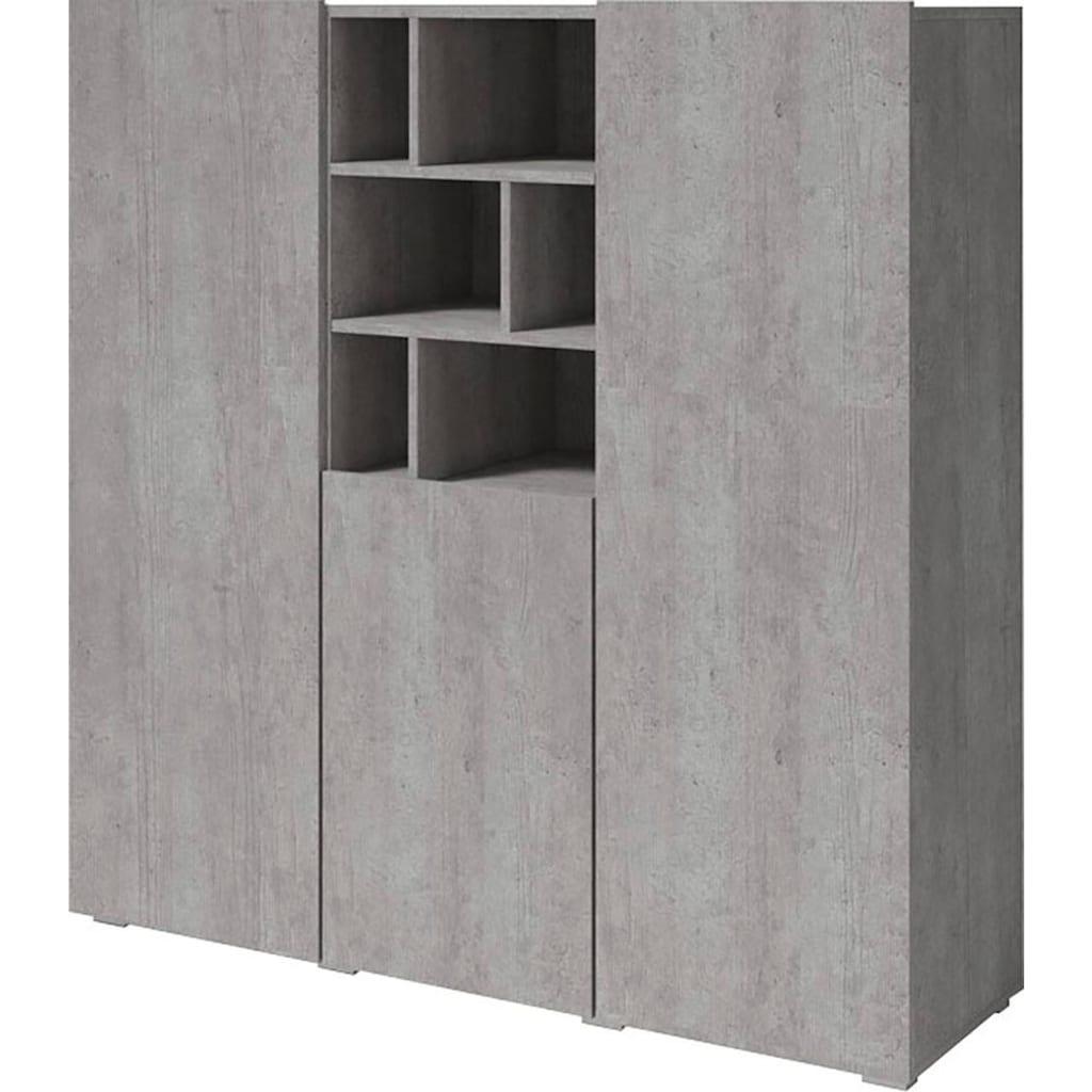TRENDMANUFAKTUR Highboard »Aksel«, Breite 132, 4 cm