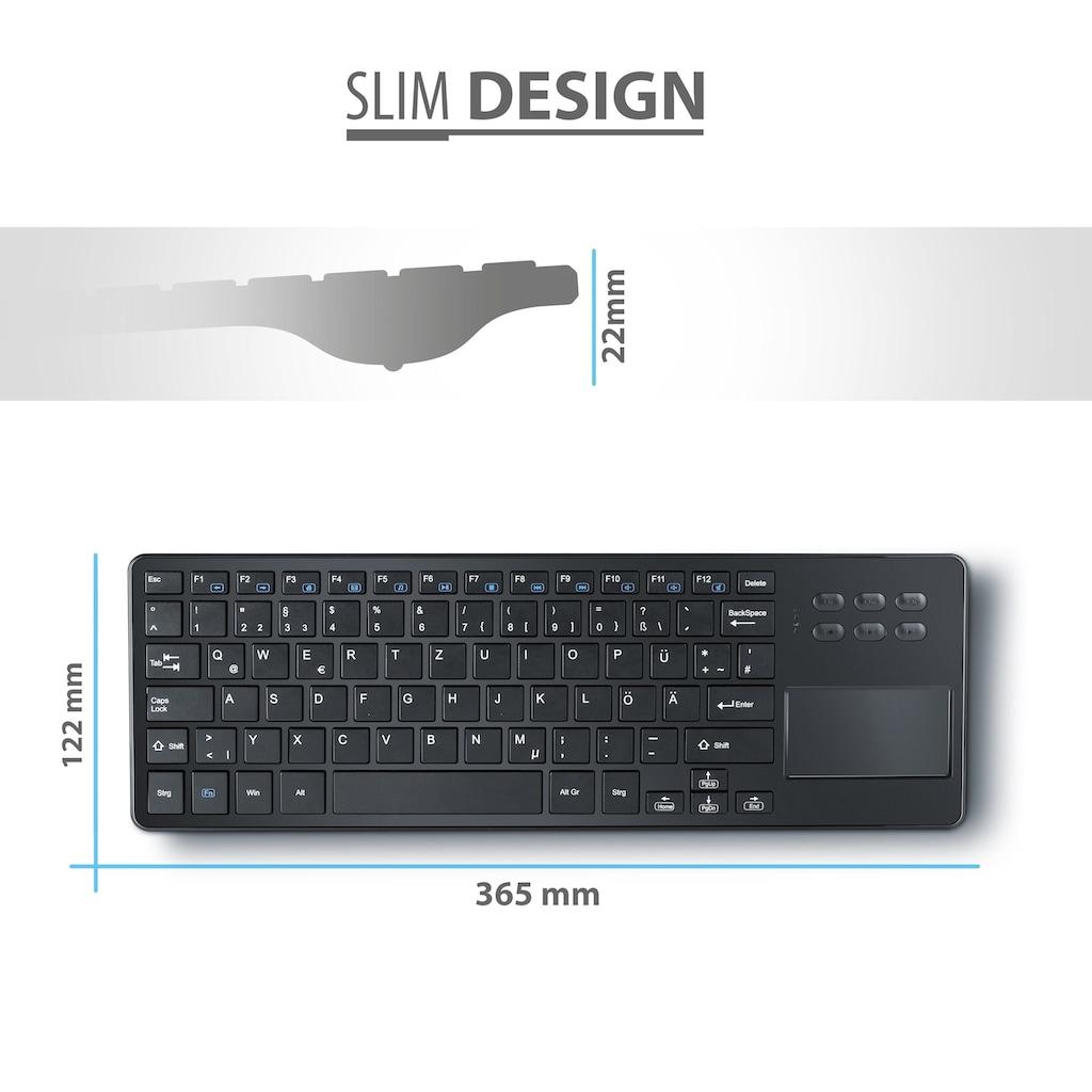 CSL Wireless Tastatur mit Touchpad im Slim Design
