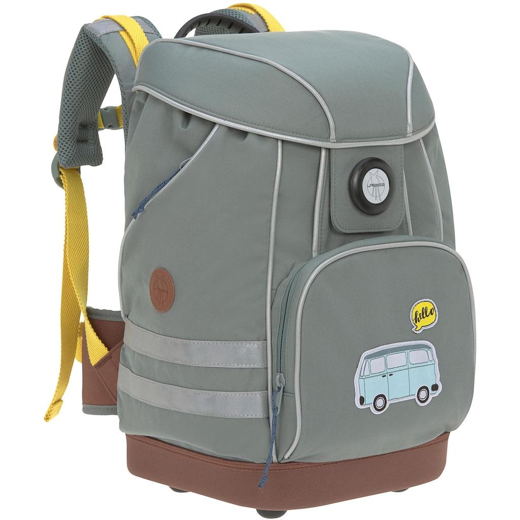 LÄSSIG Schulranzen »Adventure Bus«, 3M™ Scotchlite™ Reflektoren, PETA-approved vegan