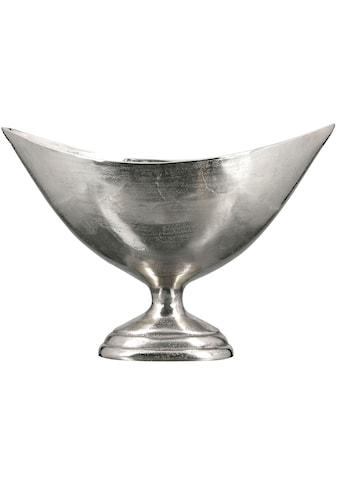 Casablanca by Gilde Dekoschale »Schale Trophy, groß, silberfarben«, Breite 63,5 cm, aus Metall, antikfinish, mit Fuß, Wohnzimmer kaufen
