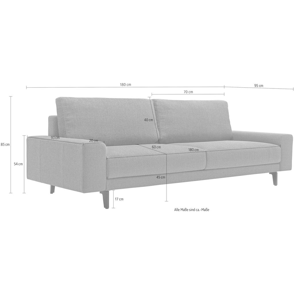 hülsta sofa 2-Sitzer »hs.450«, wahlweise in Stoff oder Leder, mit kubischer Armlehne
