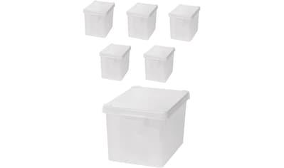 KREHER Aufbewahrungsbox »6x 20 Liter, mit Deckel« 6er Set kaufen