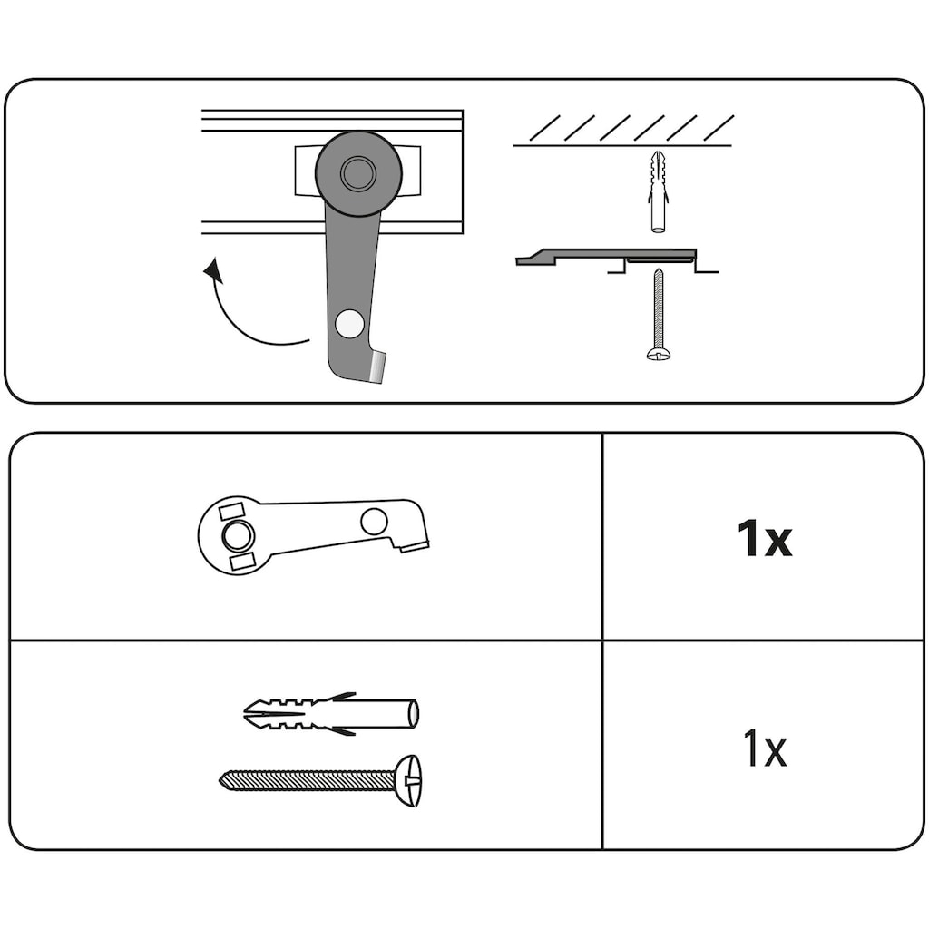 Gardinenstangenhalter »Deckenträger«, GARDINIA