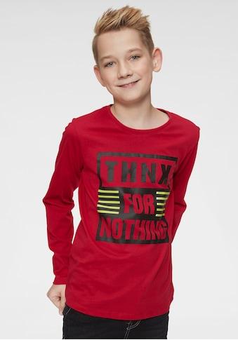 Arizona Langarmshirt »Thanks for nothing« kaufen