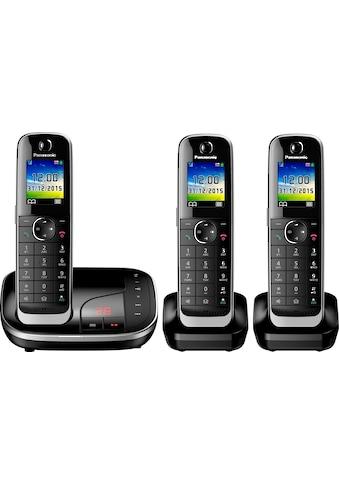Panasonic Schnurloses DECT-Telefon »KX-TGJ323«, (Mobilteile: 3 ), mit Anrufbeantworter kaufen