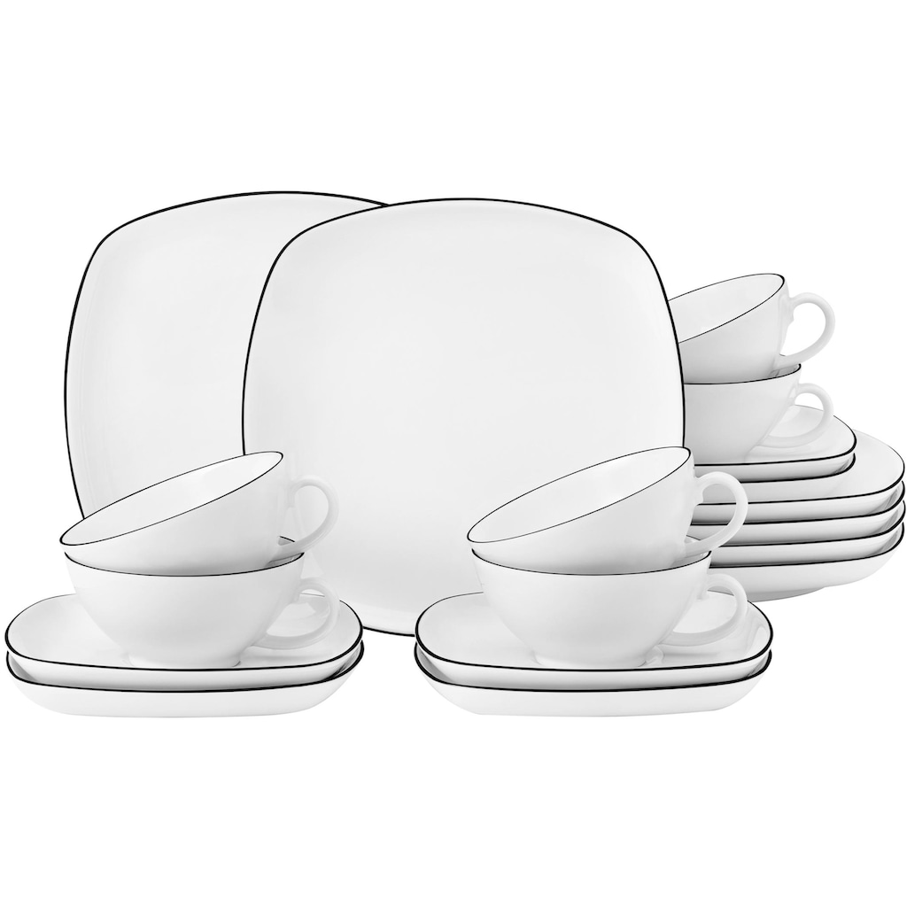 Seltmann Weiden Teeservice »Lido«, (Set, 18 tlg.), 140 ml