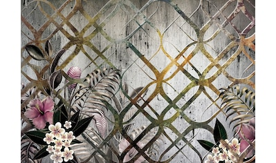 CONSALNET Vliestapete »Goldenes Motiv/Blumen«, in verschiedenen Größen kaufen