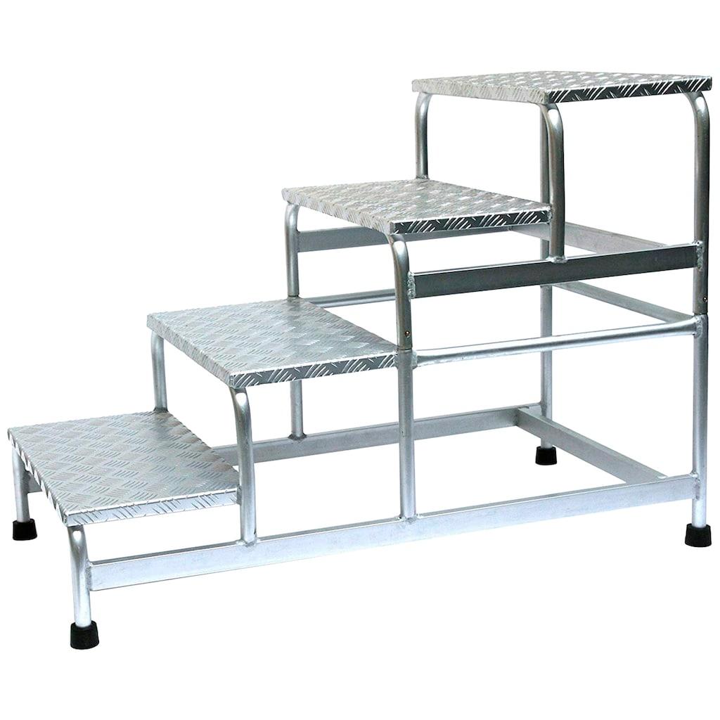 SZ METALL Trittleiter, Aluminium, 4-stufig