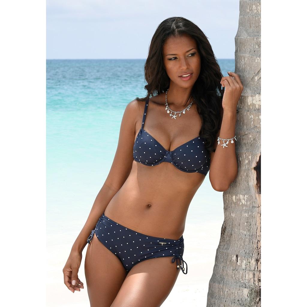 LASCANA Bügel-Bikini-Top »Sparkel«, mit kleinen Tupfen