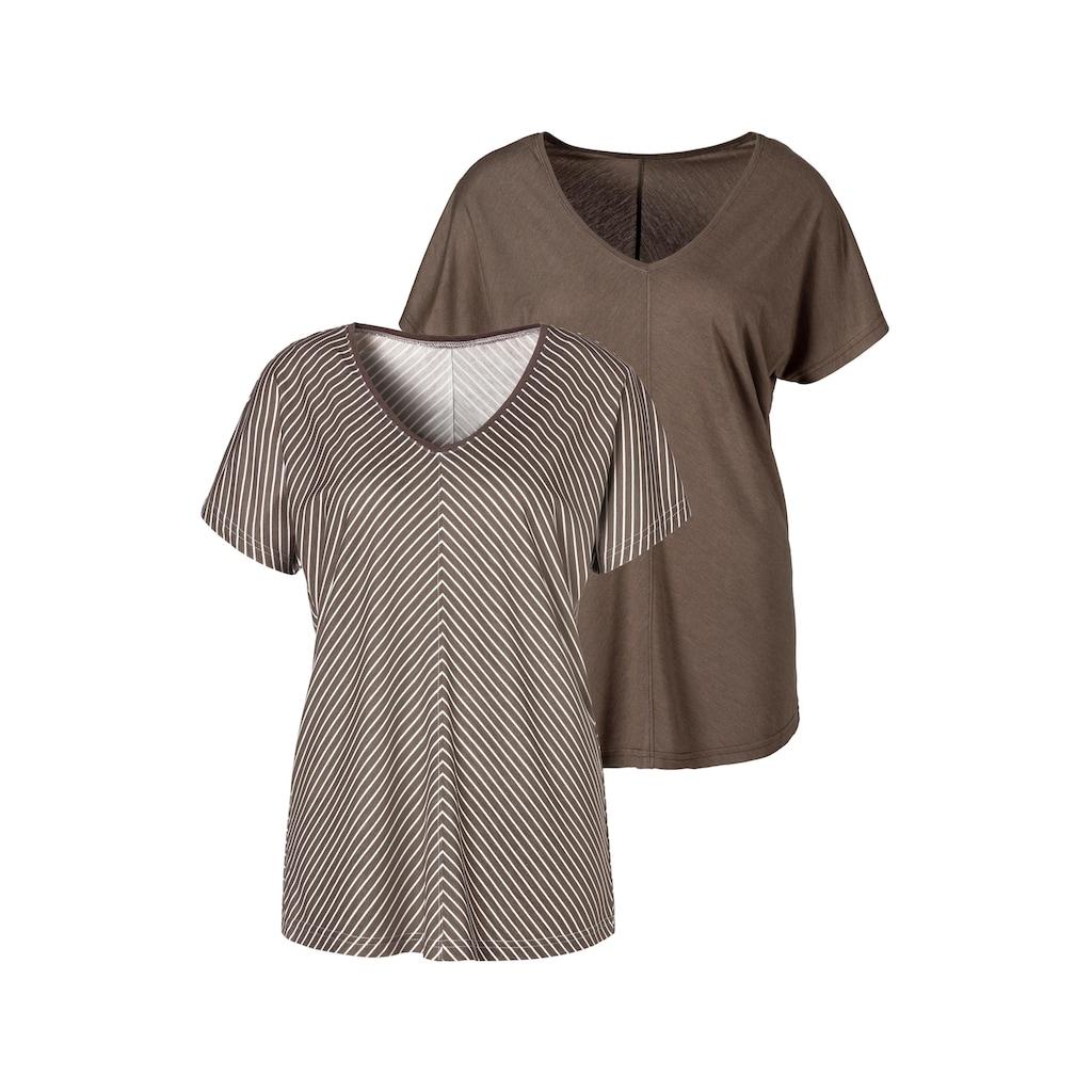 LASCANA T-Shirt, mit besonderem Streifendesign