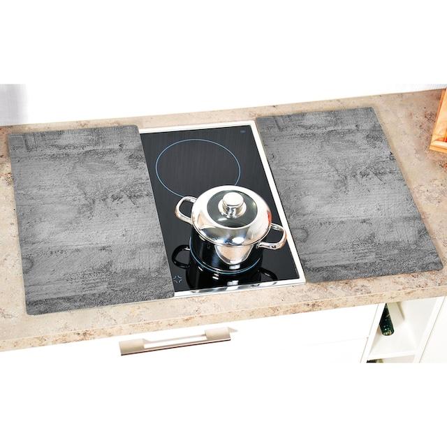 """KESPER for kitchen & home Schneide- und Abdeckplatte """"Beton"""", ESG-Sicherheitsglas, (Set, 2-tlg.)"""