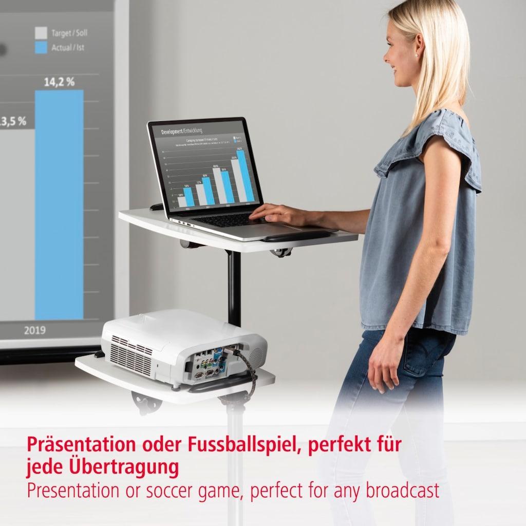 Hama Laptoptisch »Beamerwagen mit Rollen, 360°«, Beamertisch, 2 Flächen (je 10kg), höhenverstellbar, neigbar