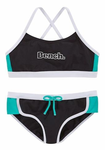 Bench. Bustier-Bikini, mit Kontrastdetails kaufen