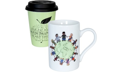 Könitz Becher »Eco- it`s our earth + rethink«, (Set, 2 tlg., 1x Coffee to go Becher +... kaufen