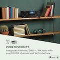 Auna CD Internetradio Spotify Connect App Control Blue »Worldwide«